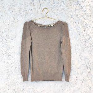Loft Stitchy Puff Sleeve cotton sweater